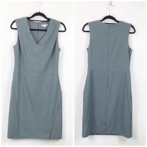 Merona Gray Sleeveless Midi Shift Dress